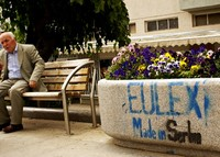 Graffito: Eulex, made in Serbia