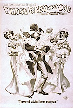 Whose baby are you? (us-amerikanisches Theaterplakat, um 1900)